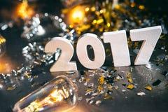 2017 nieuwjaar ` s Eve Grunge Background Royalty-vrije Stock Afbeeldingen