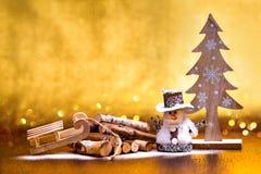Nieuwjaar` s groeten De decoratie van Kerstmis stock afbeeldingen