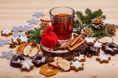Nieuwjaar` s groeten De decoratie van Kerstmis stock fotografie