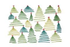 Nieuwjaar` s Kerstboom met ballen en nummer 2018 geschilderde wi Royalty-vrije Stock Afbeeldingen