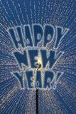 Nieuwjaar` s lichten Royalty-vrije Stock Fotografie