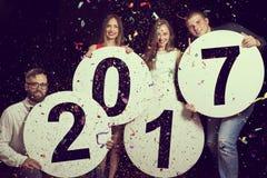 Nieuwjaar` s Partij Royalty-vrije Stock Afbeeldingen