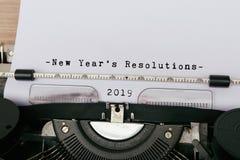2019 nieuwjaar` s Resolutie Royalty-vrije Stock Afbeeldingen