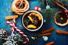 Nieuwjaar` s voedsel en dranken Stock Foto's
