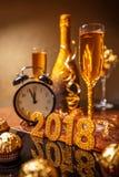 2018 nieuwjaar` s Vooravond Stock Fotografie