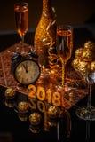 2018 nieuwjaar` s Vooravond Stock Afbeelding
