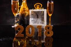 2018 nieuwjaar` s Vooravond Royalty-vrije Stock Foto