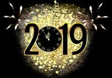Nieuwjaar` s Vooravond 2019 royalty-vrije stock foto's