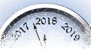 Nieuwjaar` s Vooravond 2018 royalty-vrije illustratie