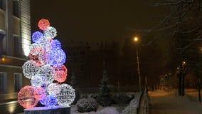 Nieuwjaar` s Vooravond - LEIDENE Kerstboom stock video