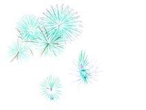 Nieuwjaar` s vuurwerk Royalty-vrije Stock Afbeelding