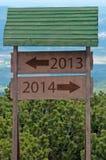 Nieuwjaar 2014 teken Royalty-vrije Stock Foto's