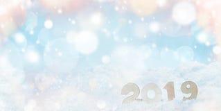 Nieuwjaar 2019 vakantie royalty-vrije stock fotografie