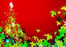 Nieuwjaar, vakantie en Kerstmisachtergrond vector illustratie