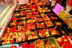 Nieuwjaar van de Chinatown van Singapore het Chinese Maan shoppin Stock Afbeeldingen