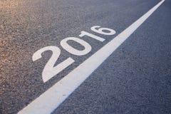 Nieuwjaar 2016 vooruit Stock Afbeelding
