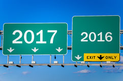 Nieuwjaar 2017 vooruit Stock Foto's