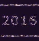 Nieuwjaarachtergrond die van Sneeuwvlokken wordt gemaakt Royalty-vrije Stock Foto