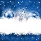 Nieuwjaarachtergrond met Kerstmisornament Stock Foto's