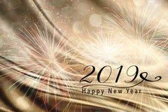 2019 nieuwjaarachtergrond voor Sociale media Stock Afbeeldingen