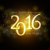 2016 nieuwjaarachtergrond voor uw uitnodiging of groetenkaart Royalty-vrije Stock Foto