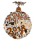 Nieuwjaarbasset Patroon Royalty-vrije Stock Afbeelding