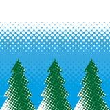 Nieuwjaarbomen met halftone effect Stock Foto