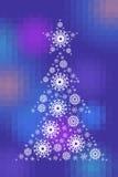 Nieuwjaarboom op gefacetteerde achtergrond Stock Afbeeldingen