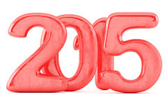 2015 nieuwjaarcijfers Stock Foto