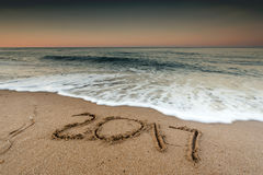 2017 nieuwjaarconcept Stock Foto's