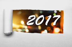 2017 nieuwjaarconcept Stock Fotografie