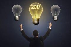 2017 nieuwjaarconcept Stock Foto