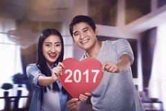 Nieuwjaarconcept voor Paar Stock Afbeelding