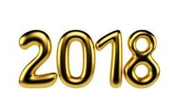 Nieuwjaardecoratie 2018 3d geef terug Royalty-vrije Illustratie