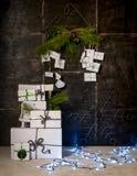 Nieuwjaardecoratie die van triplex wordt gemaakt Royalty-vrije Stock Fotografie