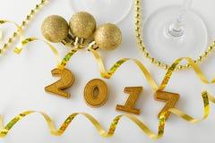 Nieuwjaardecoratie vanaf 2017 Royalty-vrije Stock Afbeelding