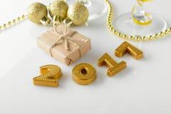 Nieuwjaardecoratie vanaf 2017 Stock Afbeeldingen