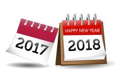 Nieuwjaarkalender 2018 Stock Fotografie