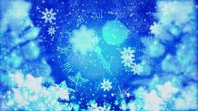 Nieuwjaarklok en Vuurwerk, Nieuwjaar stock illustratie