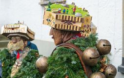 Nieuwjaarmummers ( Silvesterchlausen) in Urnasch, Appenzell Stock Afbeelding