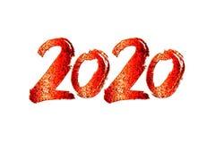 2020 Nieuwjaarontwerp royalty-vrije stock afbeeldingen