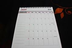 Nieuwjaarontwerper of kalender stock foto