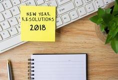 Nieuwjaarresoluties 2018 Stock Foto's