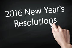 2016 nieuwjaarresoluties Stock Foto's
