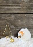 Nieuwjaarsamenstelling met een schaap - een symbool van 2015 op het oosten cal Royalty-vrije Stock Afbeelding