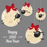 Nieuwjaarschapen 2015 Royalty-vrije Stock Afbeelding