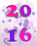 2016 Nieuwjaarskaart Stock Foto's