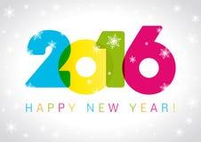 2016 Nieuwjaarskaart Royalty-vrije Stock Afbeelding