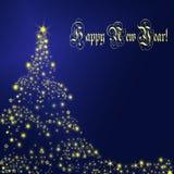 Nieuwjaarskaart Royalty-vrije Stock Foto's