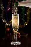 Nieuwjaarskaart met champagne Royalty-vrije Stock Fotografie